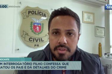 Filho confessa que matou os pais e dá detalhes do crime
