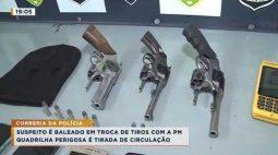 Bandidos em fuga trocam tiros com a Polícia