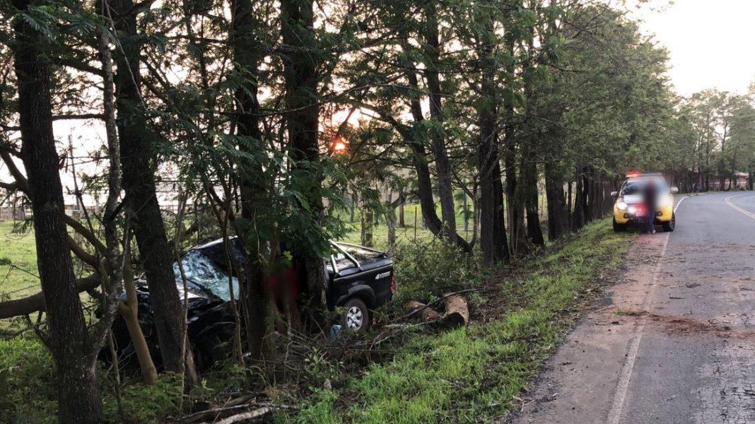 Adolescente de 16 anos pega direção de caminhonete, bate em árvore e morre