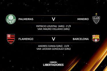 Conmebol define árbitro argentino para semi entre Palmeiras e Atlético-MG na Libertadores