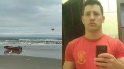 Força-tarefa tenta localizar corpo de bombeiro que morreu afogado em Guaratuba