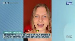 Comediante alemã se apaixona pela capital e viraliza com vídeos sobre gírias e costumes
