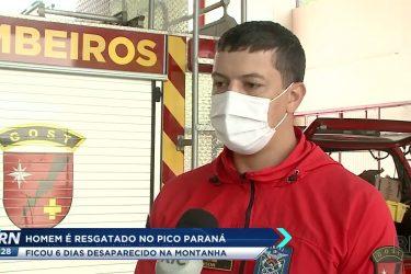 Homem é resgatado no pico do Paraná após seis dias desaparecido na montanha