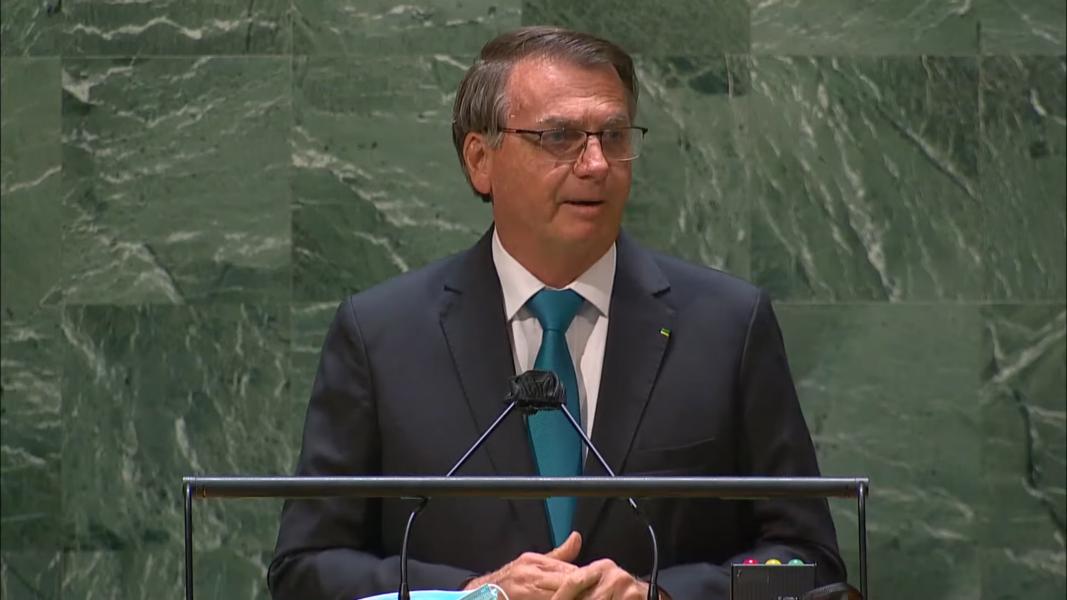 Bolsonaro fala na Assembleia Geral da ONU
