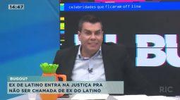 Ex de Latino entra na justiça para não ser chamada de ex do latino
