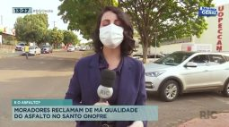 Moradores reclamam da má qualidade do asfalto no Santo Onofre