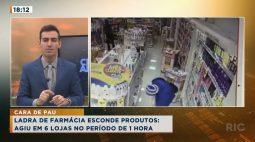 Ladra de farmácia esconde produtos e rouba 6 lojas no período de 1 hora