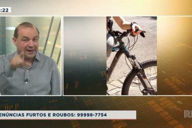 Câmera de segurança flagra ação de ladrão de bicicleta no centro de Maringá