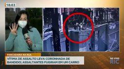 Vítima de assalto leva coronhada de bandido e assaltantes fogem com o carro