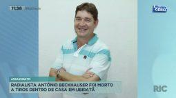 Radialista Antônio Beckhauser foi morto a tiros dentro de casa em Ubiratã