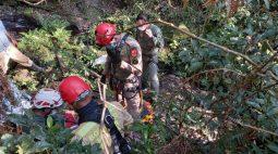 Resgate de vítima de queda em Campo Largo leva mais de cinco horas