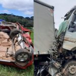 Engavetamento envolvendo oito veículos deixa pelo menos dois mortos na Rodovia do Xisto