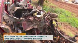 Acidente na BR-277 causado por ultrapassagem proibida deixa 1 morto e 4 feridos