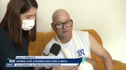 Morre avô atropelado com a neta após sofrer um infarto fulminante