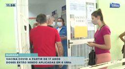 Vacina COVID a partir de 17 anos em Maringá: doses estão sendo aplicadas em 6 UBSs