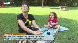 No Paraná, primavera deve continuar quente, segundo meteorologistas