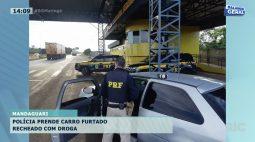 Polícia apreende carro furtado recheado com drogas