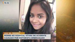 Morre no hospital vítima de acidente causado por motorista bêbado