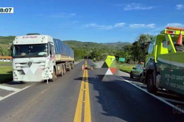 Motociclista morre em acidente próximo ao Trevo de Quedas às 7 da manhã
