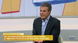 Ex-governador Beto Richa fala sobre o cenário político e as próximas eleições