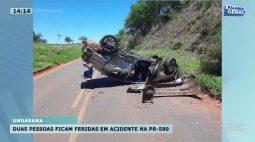 Duas pessoas ficam feridas em acidente na PR-580
