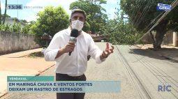 Chuva e ventos fortes deixam um rastro de estragos em Maringá