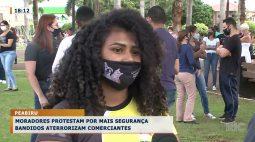 Moradores protestam por mais segurança com bandidos aterrorizando comerciantes
