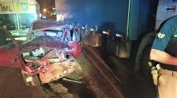 Motorista de 58 anos morre ao cruzar a BR-369 e ser atingido por caminhão