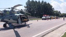 Ciclista morre e piloto de moto é socorrido em estado gravíssimo em acidente na BR-116