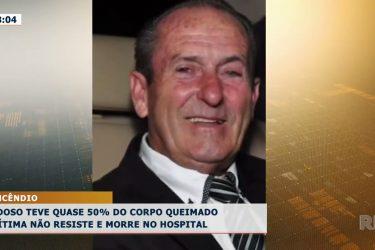 Idoso teve quase 50% do corpo queimado: vítima não resiste e morre no hospital