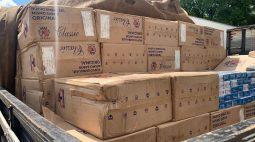 R$ 750 mil em cigarros contrabandeados são pegos pela polícia
