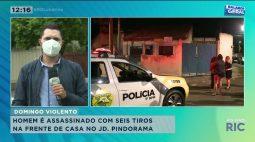 Homem é assassinado com seis tiros na frente de casa no JD. Pindorama