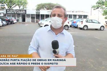 Ladrão furta fiação de obras em Maringá e Polícia age rápido para prender suspeito