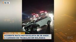 Acidente mata motociclista de 38 anos a caminho do trabalho