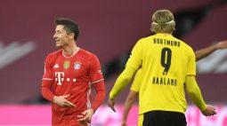 Haaland e Lewandowski disputam artilharia no Campeonato Alemão