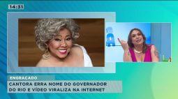 Alcione chama governador pra cantar mas confunde nome dele com ator