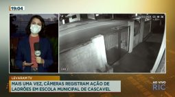 Câmeras de segurança registram ação de ladrões em escola municipal de Cascavel