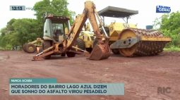 Moradores do Bairro Lago Azul dizem que sonho de asfalto virou pesadelo