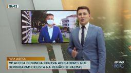 Ministério Público denuncia contra abusadores que derrubaram ciclista na região de Palmas