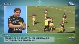 Presidente do Cascavel FC faz um balanço da temporada e projeta 2022