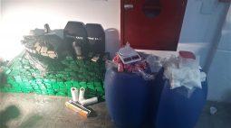 Tambores em casa de Londrina escondiam mais de 250 tabletes de maconha