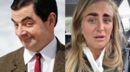 Expectativa vs realidade: mulher fica parecida com Mr. Bean após desenhar sobrancelha