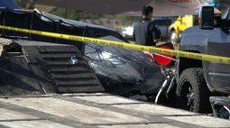 Piloto de arrancadão perde o controle, sai da pista e mata duas crianças