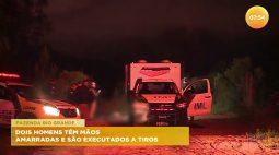 Dois homens têm mãos amarradas e são executados a tiros em Fazenda Rio Grande
