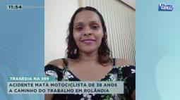 Acidente mata motociclista de 38 anos a caminho do trabalho em Rolândia
