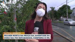 Mulher morta na Praça da Juventude da Zona Sul foi esfaqueada