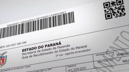 Boletos de taxas e tributos do Paraná passam a ter data de vencimento no documento