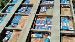 R$ 625 mil em cigarros paraguaios são apreendidos pela PM em Alto Piquiri