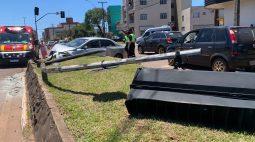12 semáforos já foram destruídos em acidentes de trânsito na cidade de Cascavel