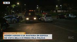 Homem bate e dá rasteira em esposa e acaba sendo preso pela polícia